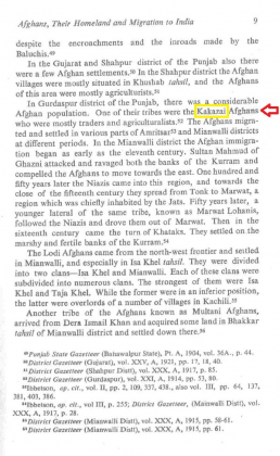 "Kakazai Afghans in Gurdaspur, Punjab in ""The Afghan nobility and the Mughals (1526-1707)"" - by Rita Joshi (Originally published 1985)"