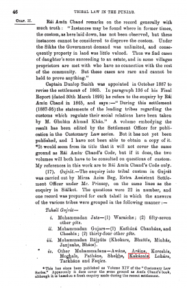 "Kakazai Pashtuns in ""Tribal Law in the Punjab - So Far As It Relates To Right In Ancestral Land"" - by Charles Arthur Roe and H. A. Rattigan (Originally Published in 1895)"