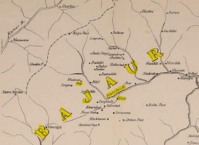 Map of Bajaur -