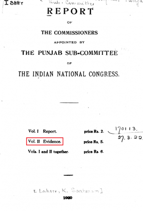 "Kakazai Pashtuns in ""Report of the Commissioners Appointed by the Punjab Sub-Committee of the Indian National Congress, Indian National Congress. Punjab Subcommittee"" - Volume II - Evidence (Originally Published in 1920)"