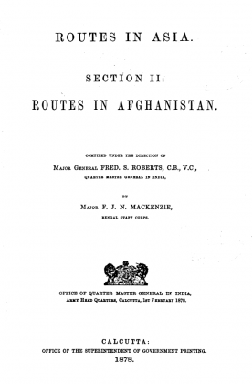"Kakazai in ""Routes in Asia - Section II - Routes in Afghanistan"" (Originally Published in 1878)"